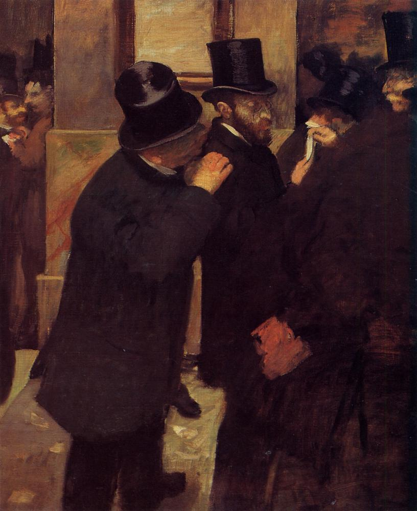 Portraits at the Stock Exchange 1878-1879 | Edgar Degas | Oil Painting
