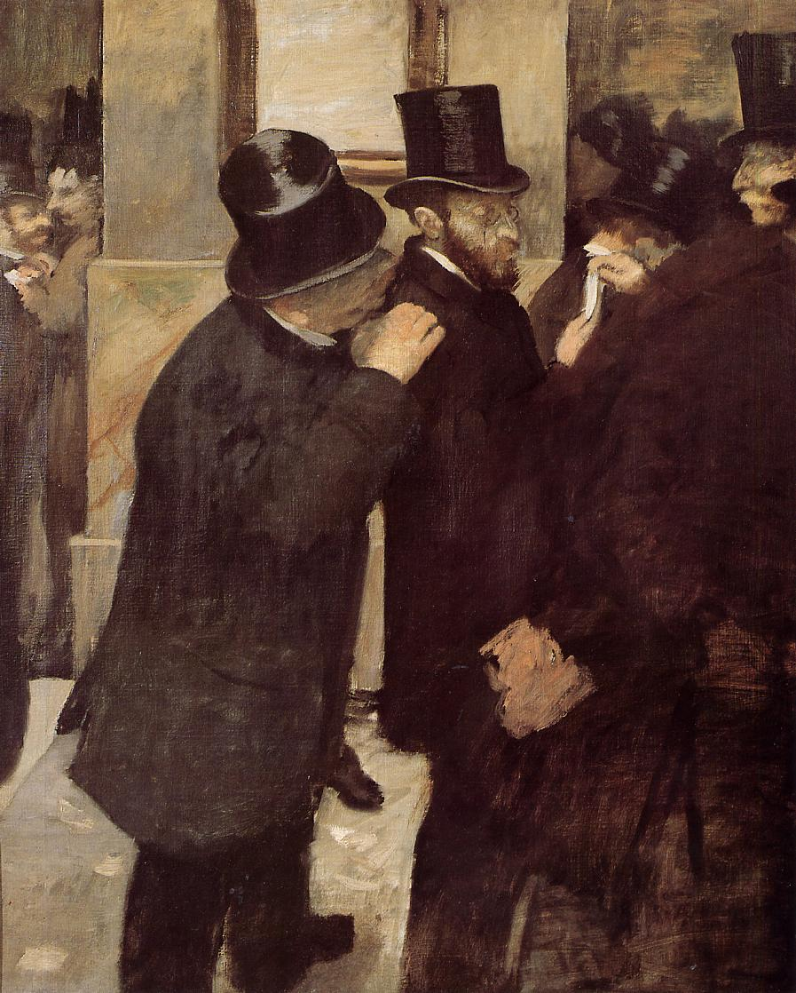Portraits at the Stock Exchange 1879 | Edgar Degas | Oil Painting