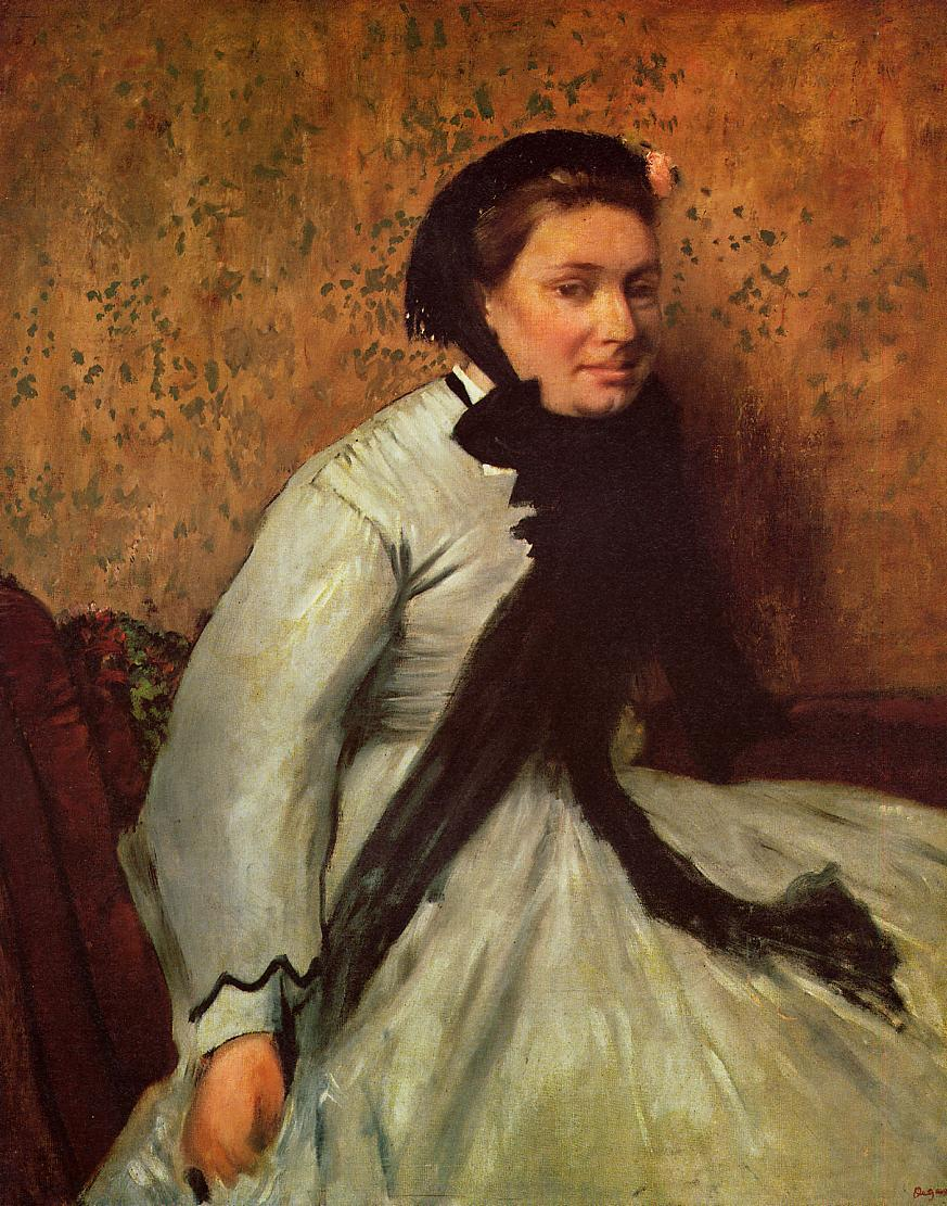 Portrait of a Lady in Grey 1865 | Edgar Degas | Oil Painting