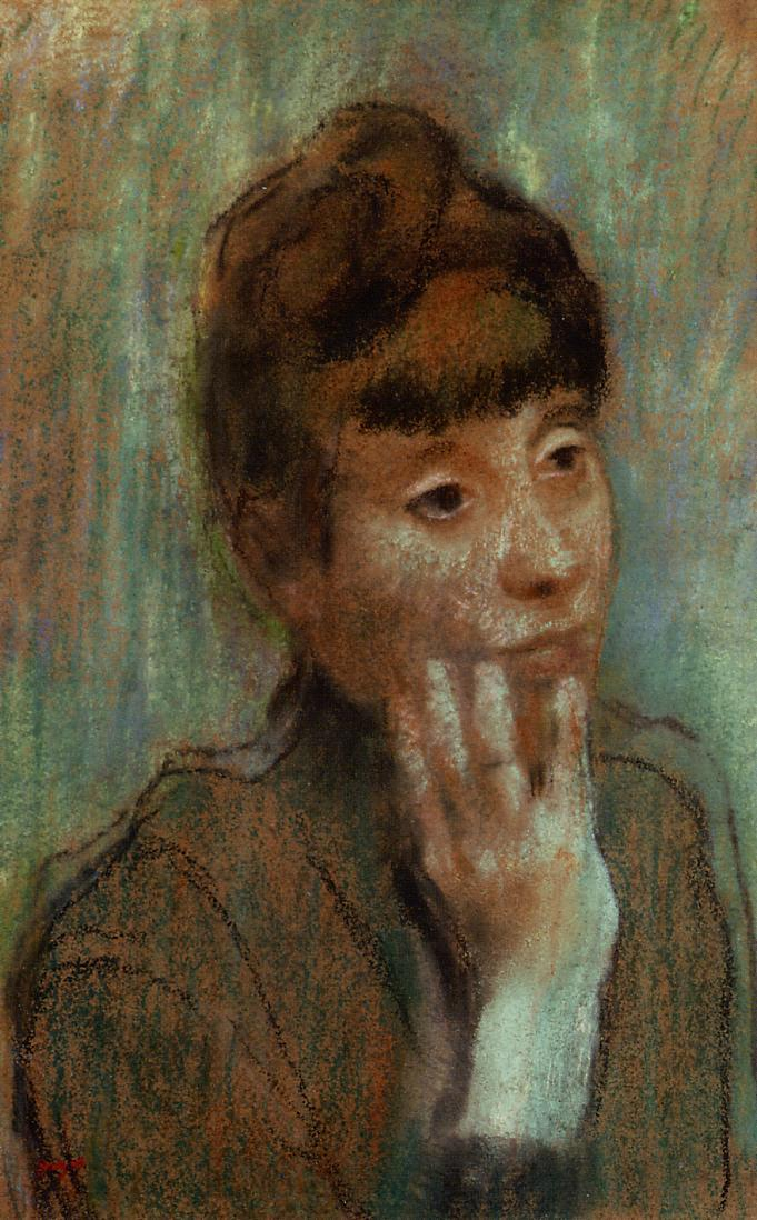 Portrait of a Woman Wearing a Green Blouse 1884 | Edgar Degas | Oil Painting