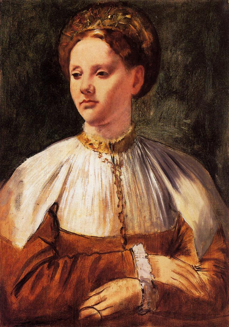Portrait of a Young Woman (after Bacchiacca) 1858-1859 | Edgar Degas | Oil Painting