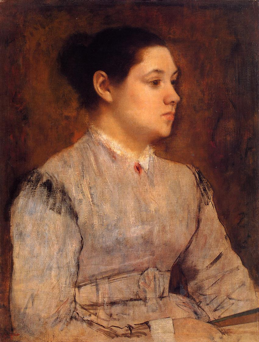 Portrait of a Young Woman 1864-1865 | Edgar Degas | Oil Painting