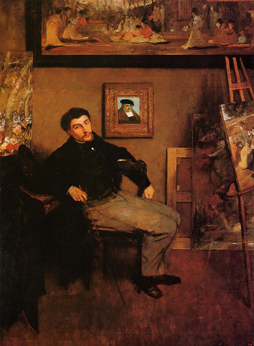Portrait of James Tissot 1867-1868 | Edgar Degas | Oil Painting