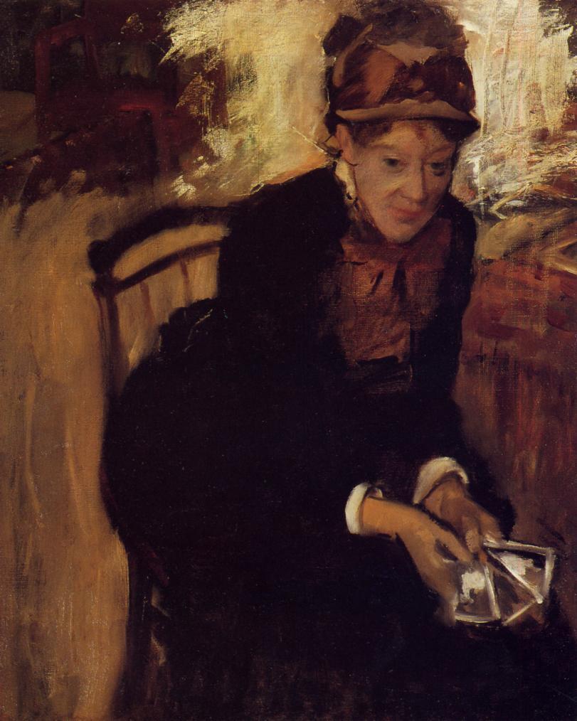 Portrait of Mary Cassatt 1880-1884 | Edgar Degas | Oil Painting
