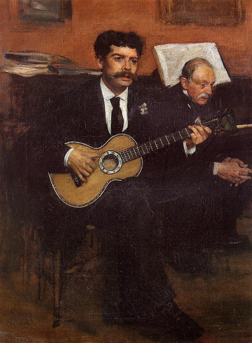 Portrait of Pagens and Auguste De Gas 1869 | Edgar Degas | Oil Painting