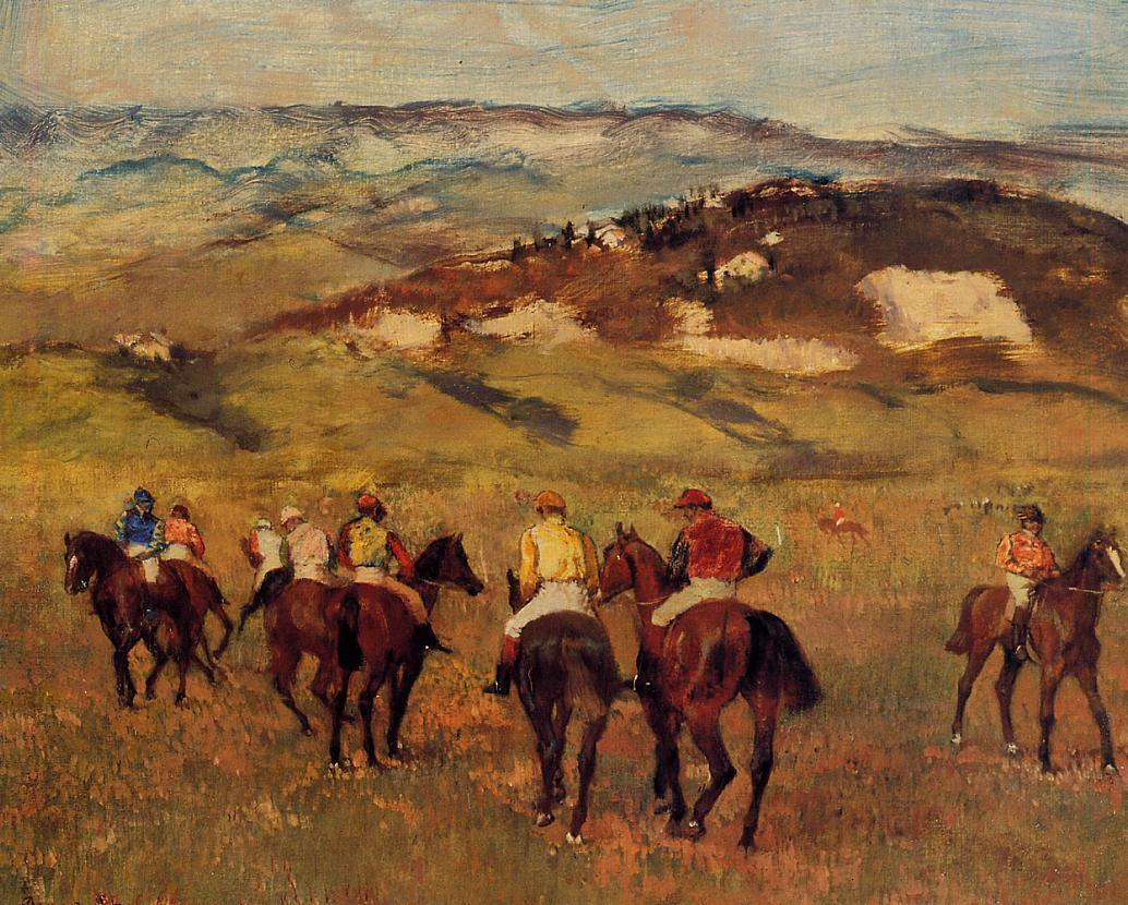 Racehorses 1884 | Edgar Degas | Oil Painting