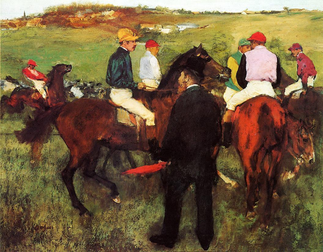 Racehorses at Longchamp 1873-1875 | Edgar Degas | Oil Painting