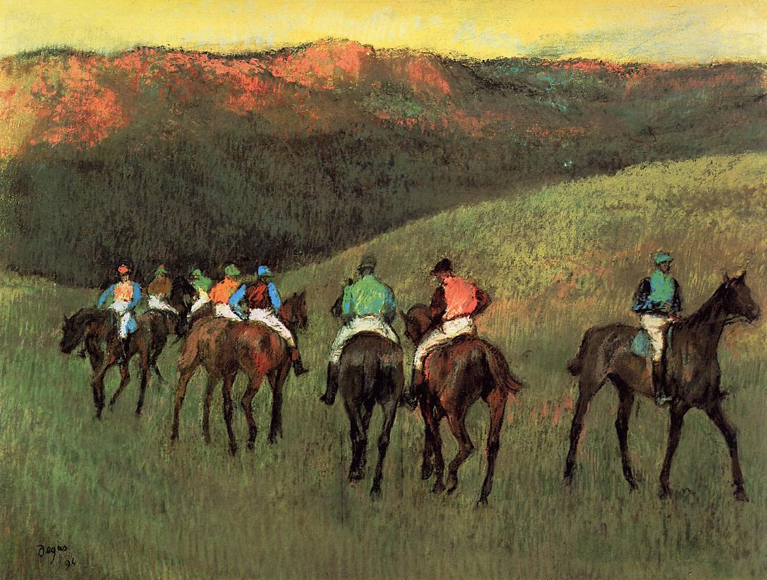 Racehorses in a Landscape 1894 | Edgar Degas | Oil Painting