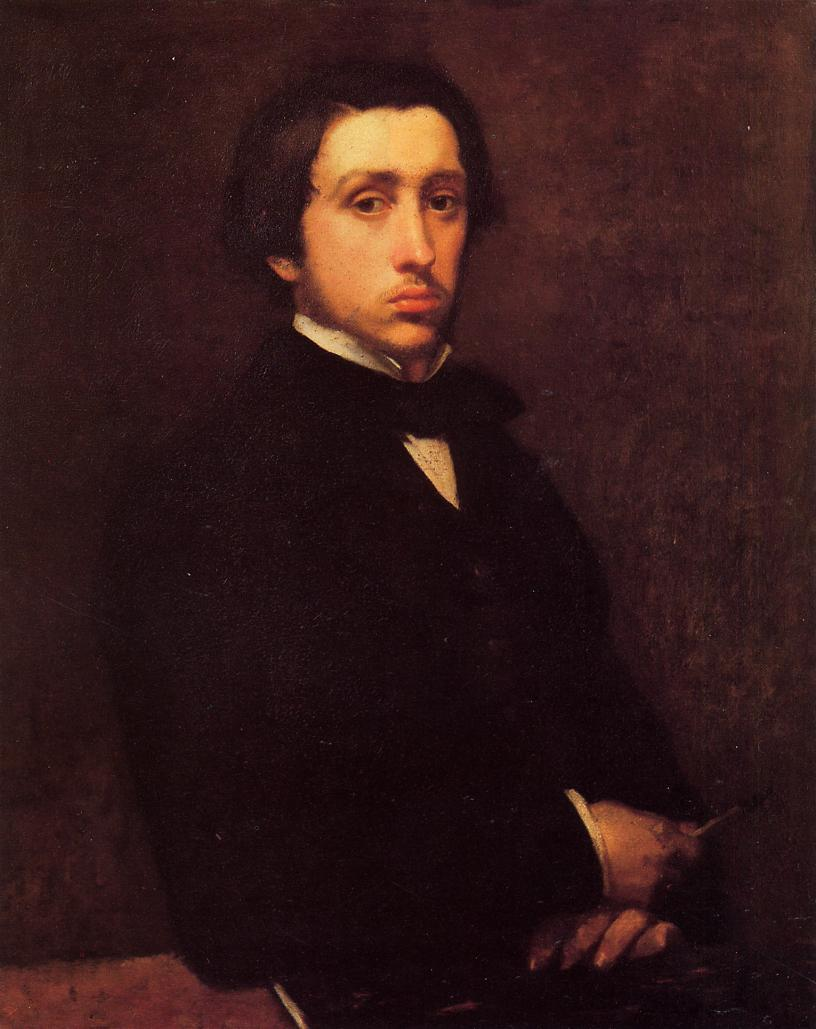 Self Portrait 1855 | Edgar Degas | Oil Painting