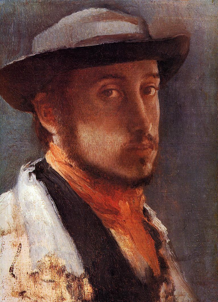 Self Portrait in a Soft Hat 1857-1858 | Edgar Degas | Oil Painting
