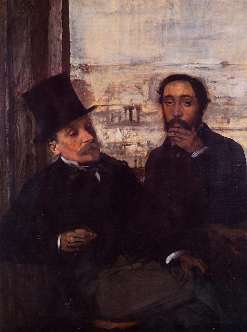 Self Portrait with Evariste de Valernes 1865 | Edgar Degas | Oil Painting