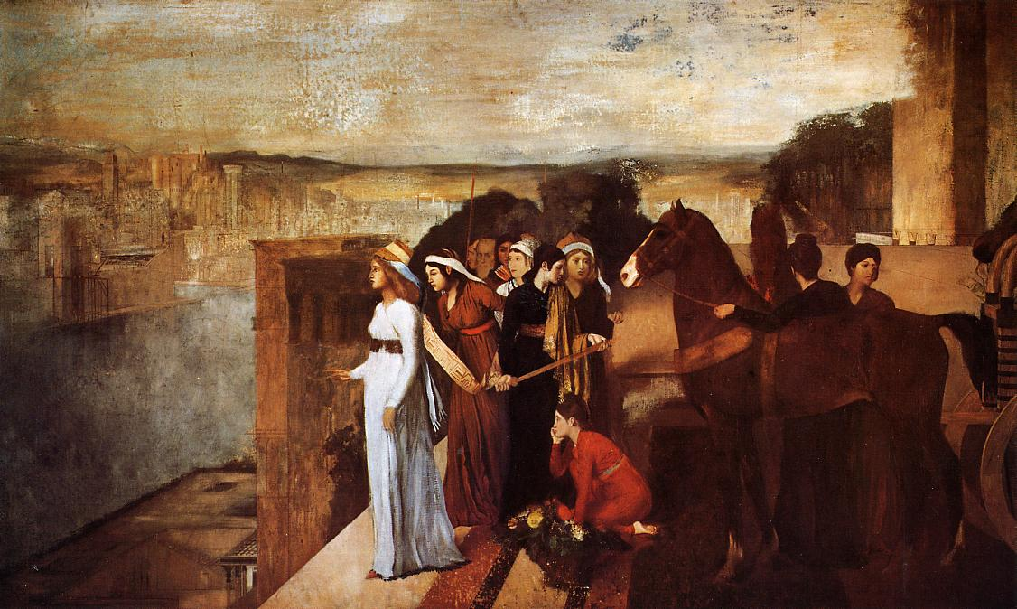 Semiramis Building Babylon 1861 | Edgar Degas | Oil Painting