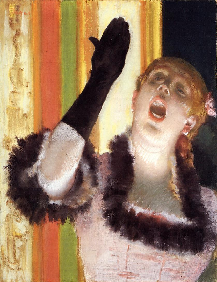 Singer with a Glove 1878 | Edgar Degas | Oil Painting