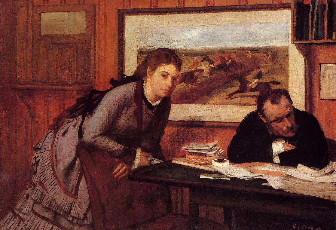 Sulking 1869 | Edgar Degas | Oil Painting