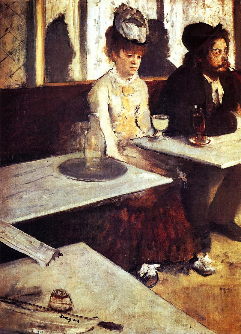 The Absinthe Drinker 1876 | Edgar Degas | Oil Painting