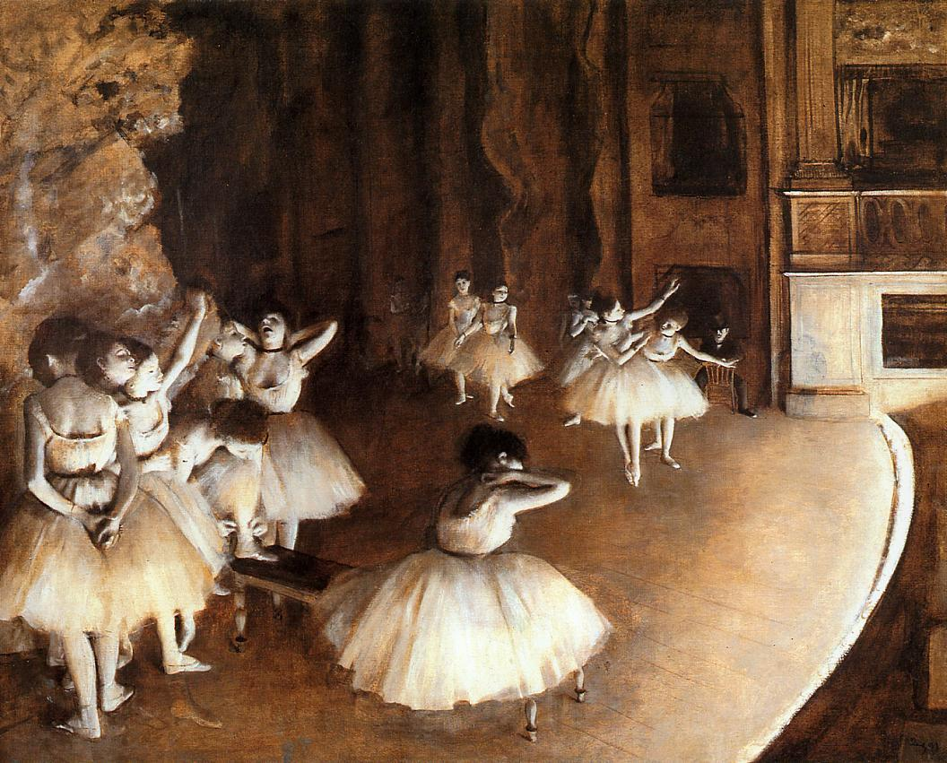 The Ballet Rehearsal on Stage 1874 | Edgar Degas | Oil Painting