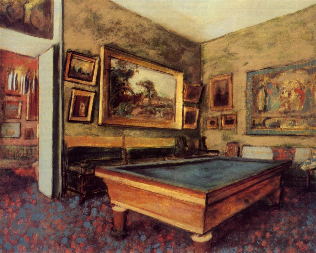 The Billiard Room at Menil-Hubert 1892 | Edgar Degas | Oil Painting