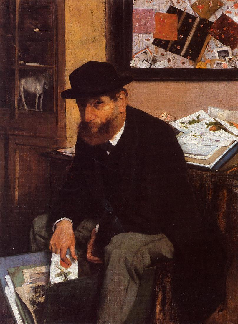 The Collector of Prints 1866 | Edgar Degas | Oil Painting