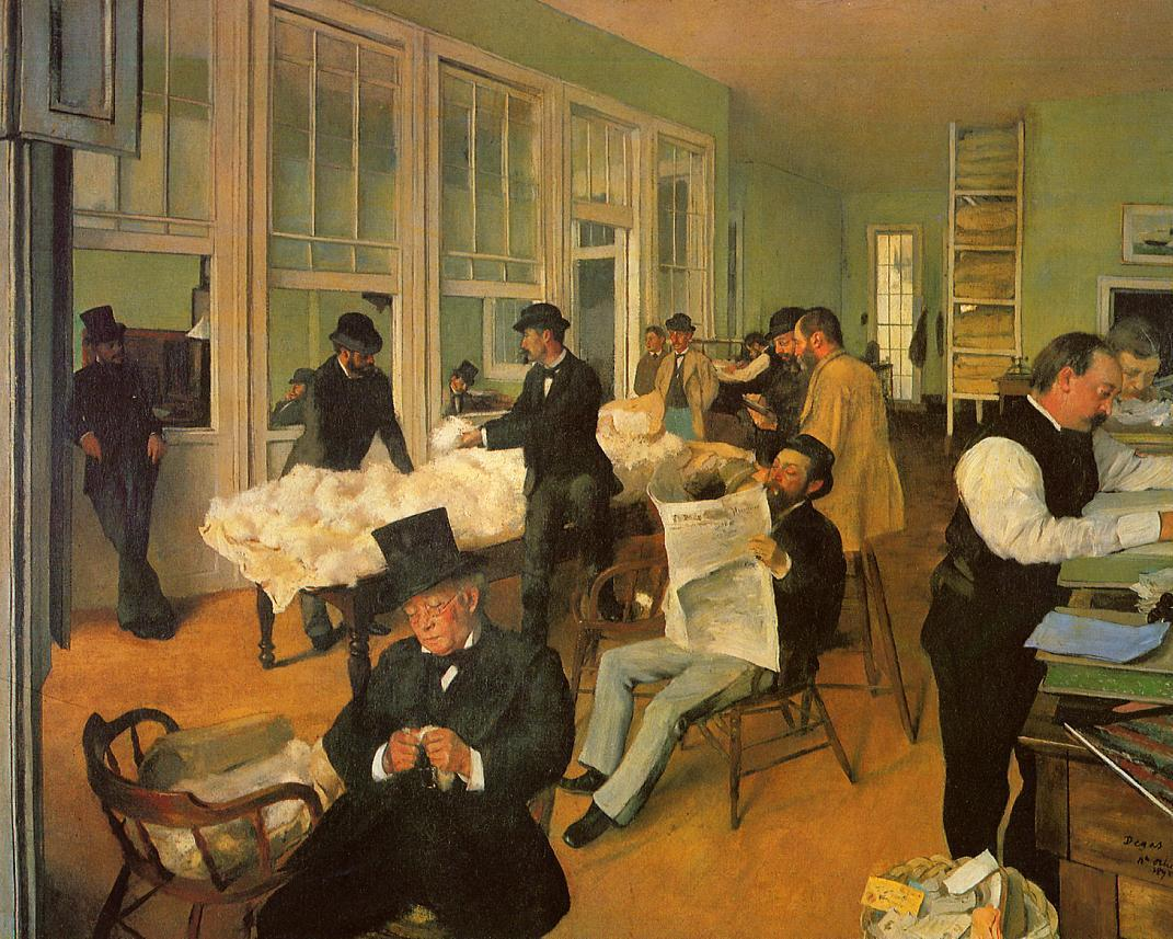 The Cotton Exchange in New Orleans 1873 | Edgar Degas | Oil Painting