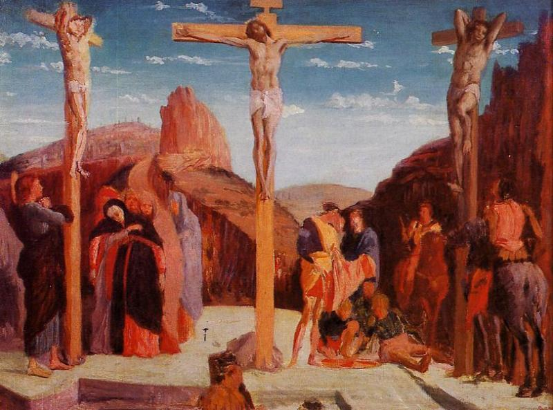 The Crucifixion (after Matagna) 1861 | Edgar Degas | Oil Painting