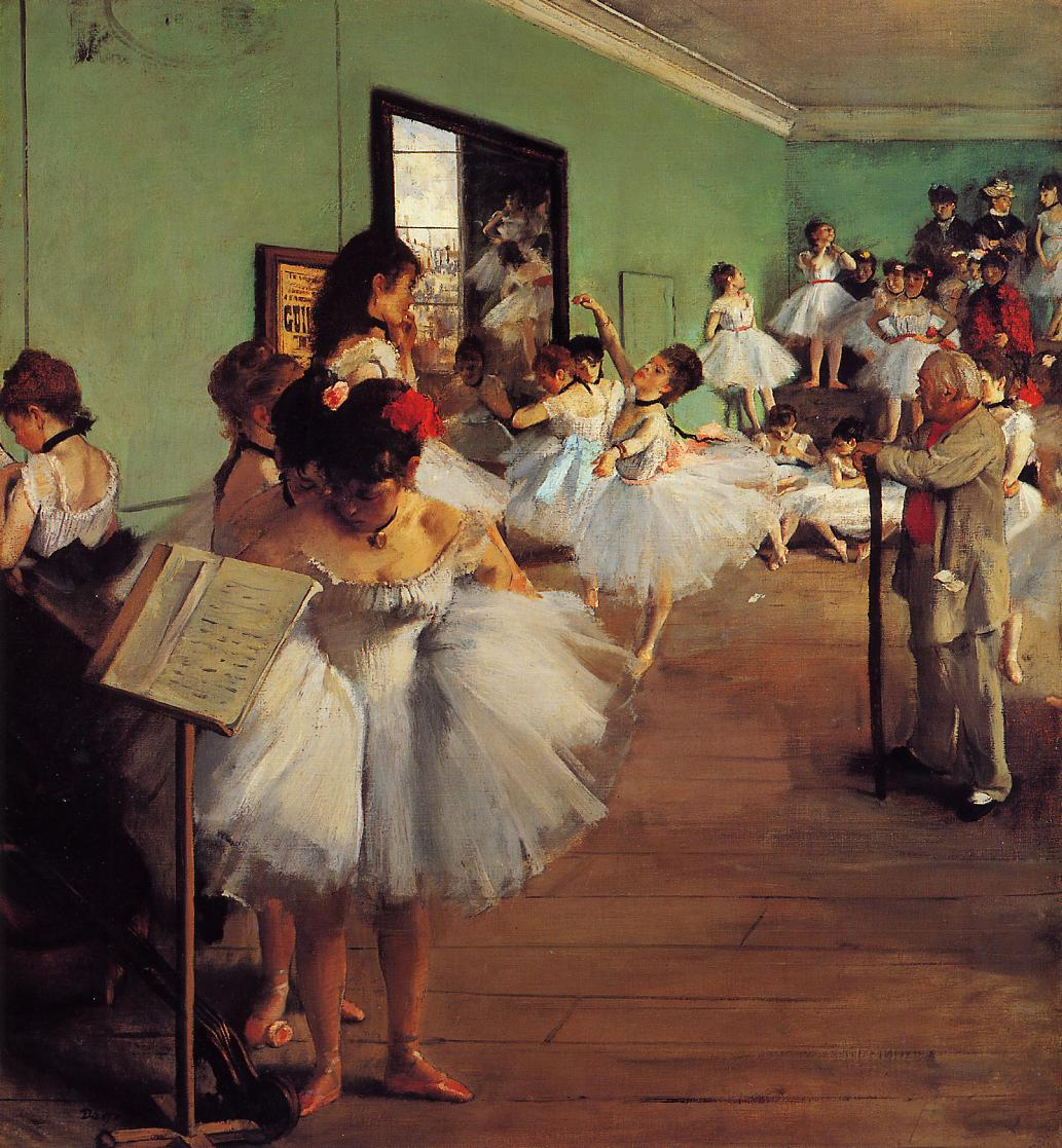 The Dance Class 1874 | Edgar Degas | Oil Painting