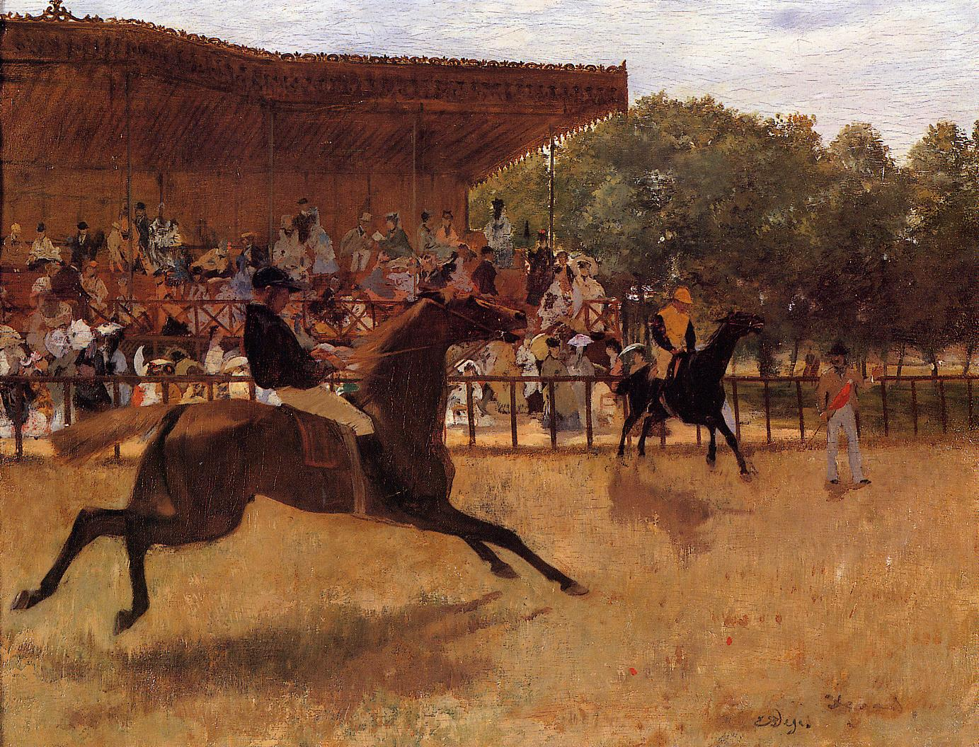 The False Start 1869-1870 | Edgar Degas | Oil Painting