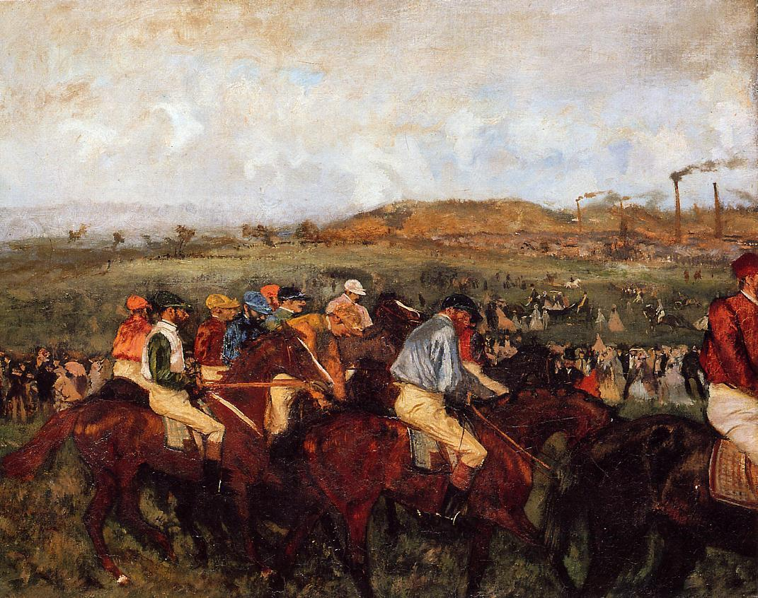 The Gentlemens Race Before the Start 1862 | Edgar Degas | Oil Painting
