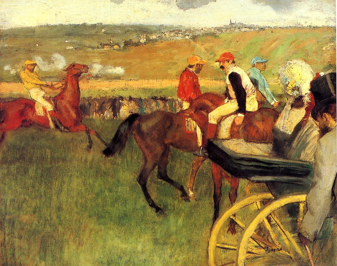 The Racecourse Amateur Jockeys 1876-1877 | Edgar Degas | Oil Painting
