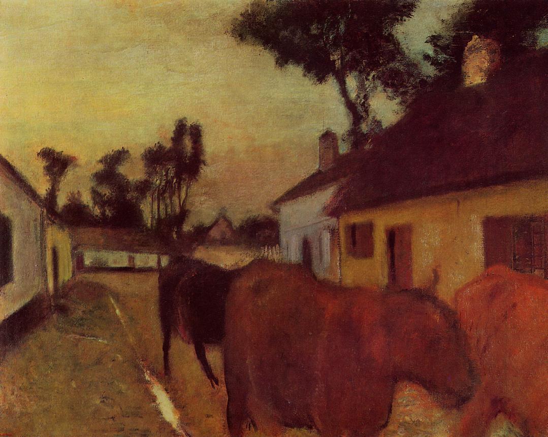 The Return of the Herd 1896-1898 | Edgar Degas | Oil Painting