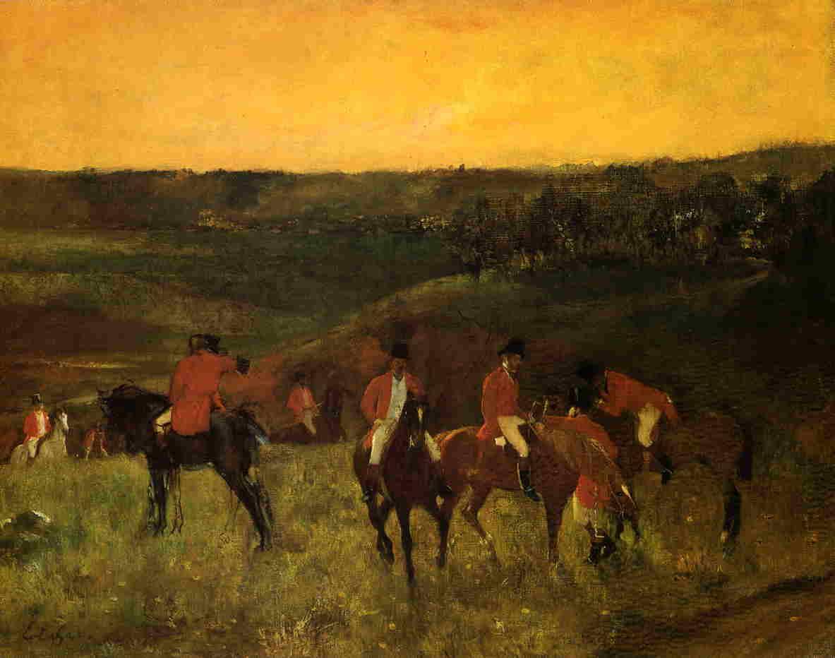 The Start of the Hunt 1863-1865 | Edgar Degas | Oil Painting