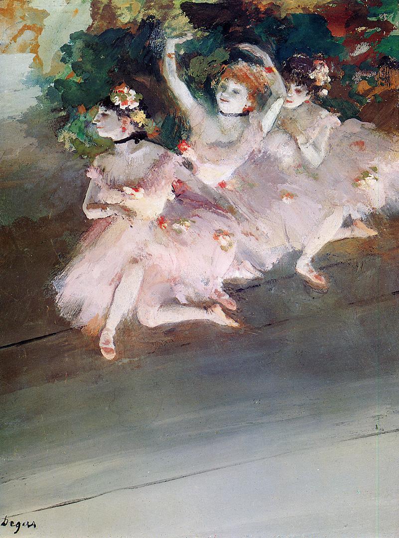 Three Ballet Dancers 1879 | Edgar Degas | Oil Painting