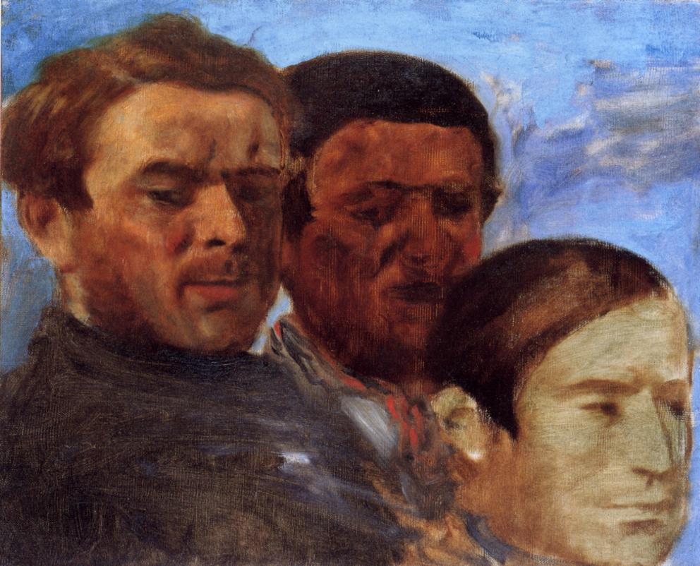 Three Heads 1871 | Edgar Degas | Oil Painting
