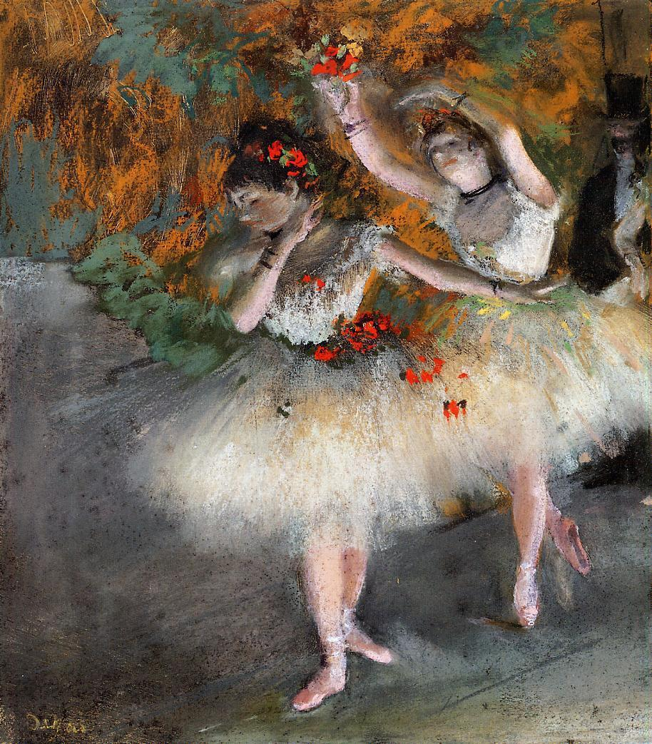 Two Dancers Entering the Stage 1877-1878 | Edgar Degas | Oil Painting