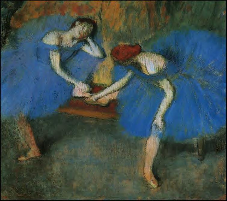 Two Dancers in Blue 1899 | Edgar Degas | Oil Painting