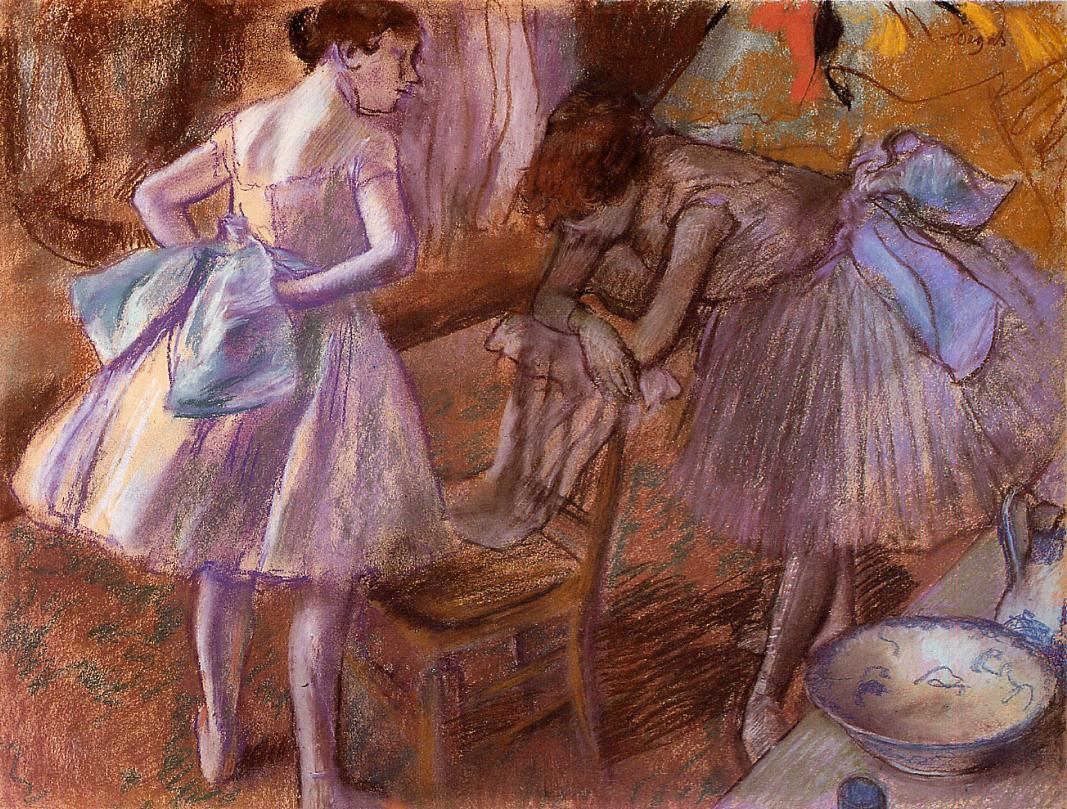 Two Dancers in Their Dressing Room 1880 | Edgar Degas | Oil Painting