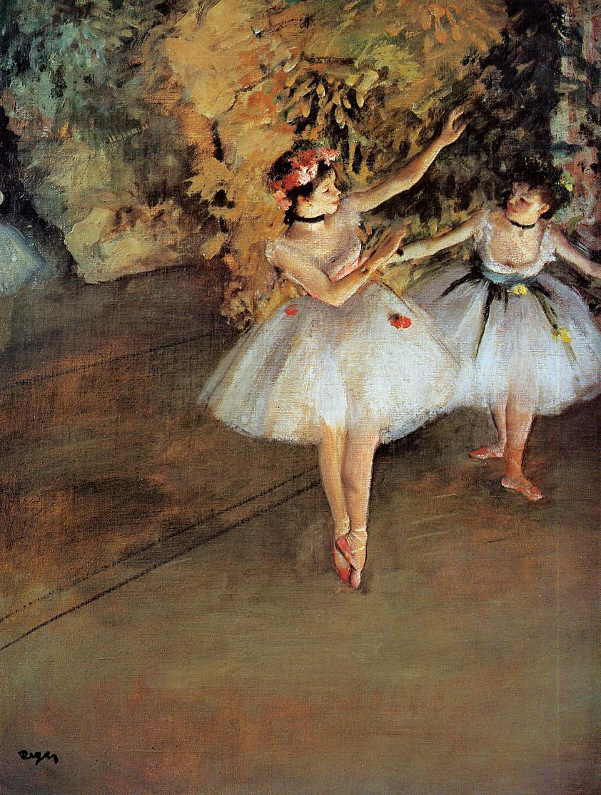 Two Dancers on Stage 1874 | Edgar Degas | Oil Painting