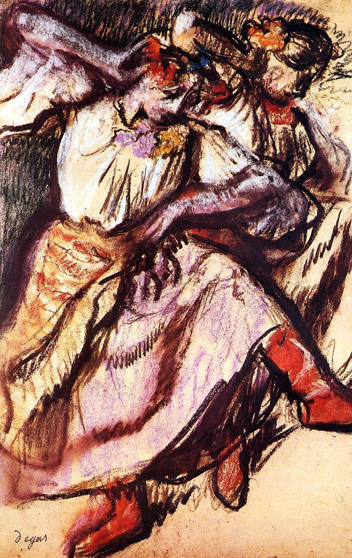 Two Russian Dancers 1895 | Edgar Degas | Oil Painting