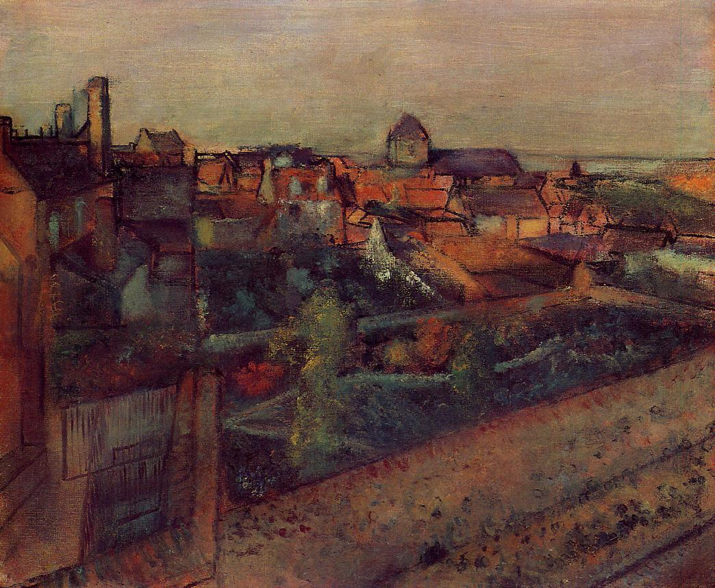 View of Saint-Valery-sur-Somme 1896-1898 | Edgar Degas | Oil Painting