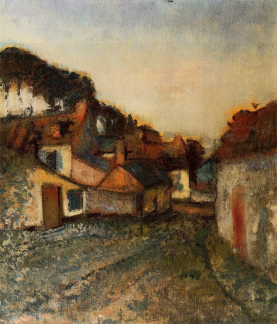Village Street 1896-1898 | Edgar Degas | Oil Painting