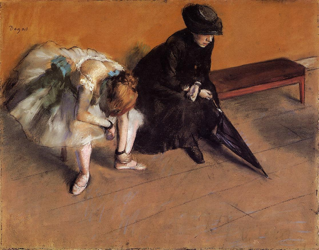 Waiting 1882 | Edgar Degas | Oil Painting