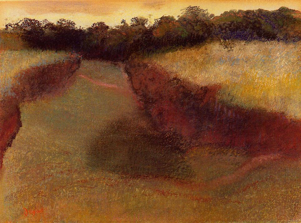 Wheatfield and Line of Trees 1890-1893 | Edgar Degas | Oil Painting
