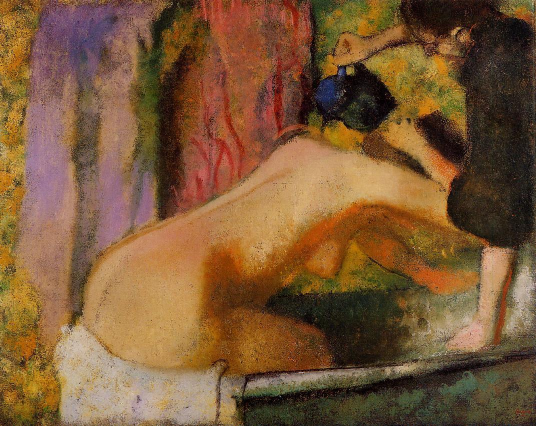 Woman at Her Bath 1893-1898 | Edgar Degas | Oil Painting