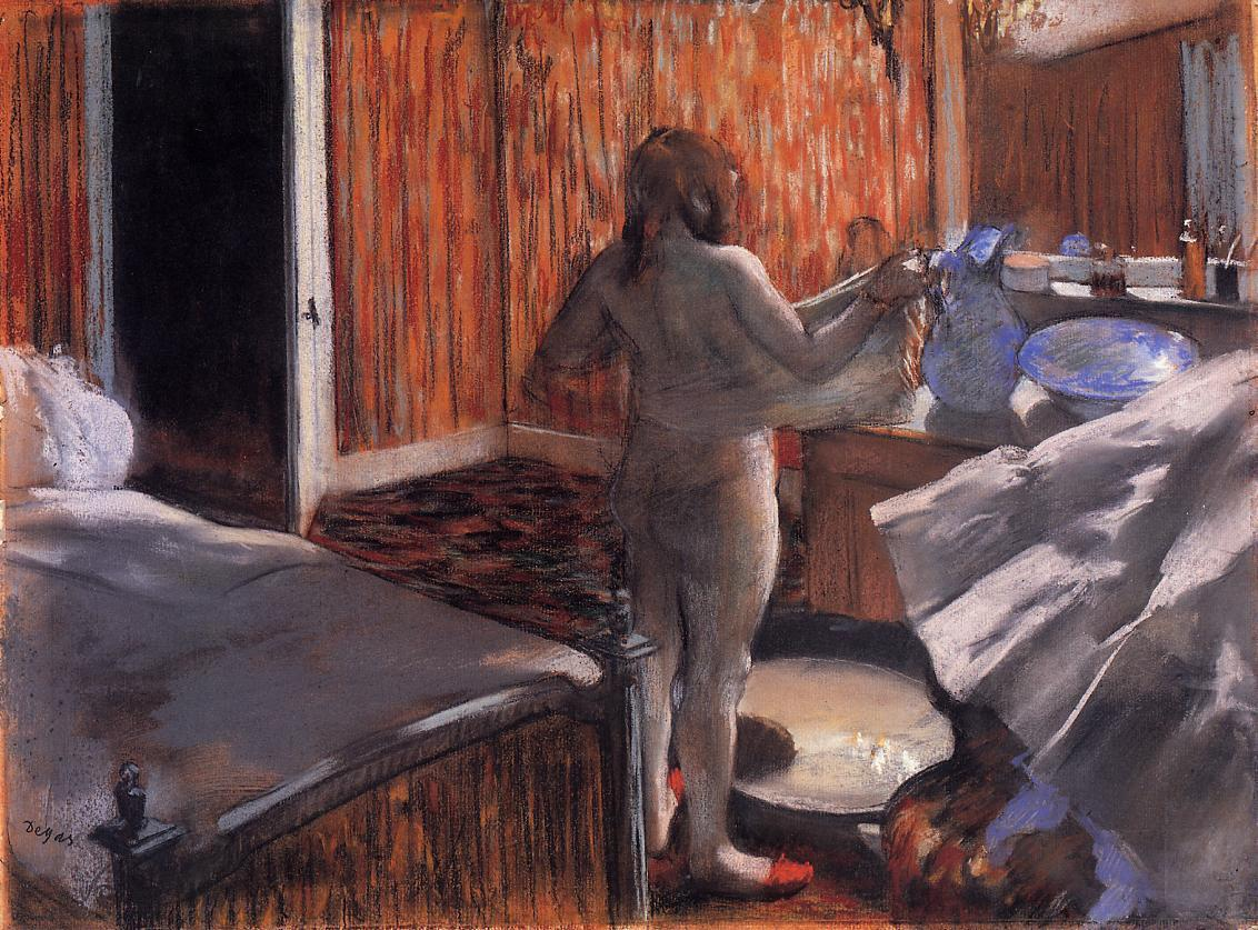 Woman at Her Toilette 1876-1877 | Edgar Degas | Oil Painting
