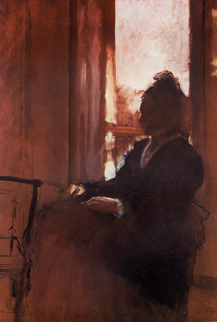 Woman at the Window 1871 | Edgar Degas | Oil Painting