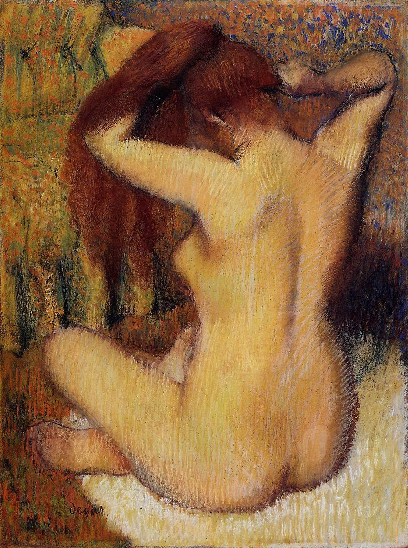 Woman Combing Her Hair 1888-1890 | Edgar Degas | Oil Painting