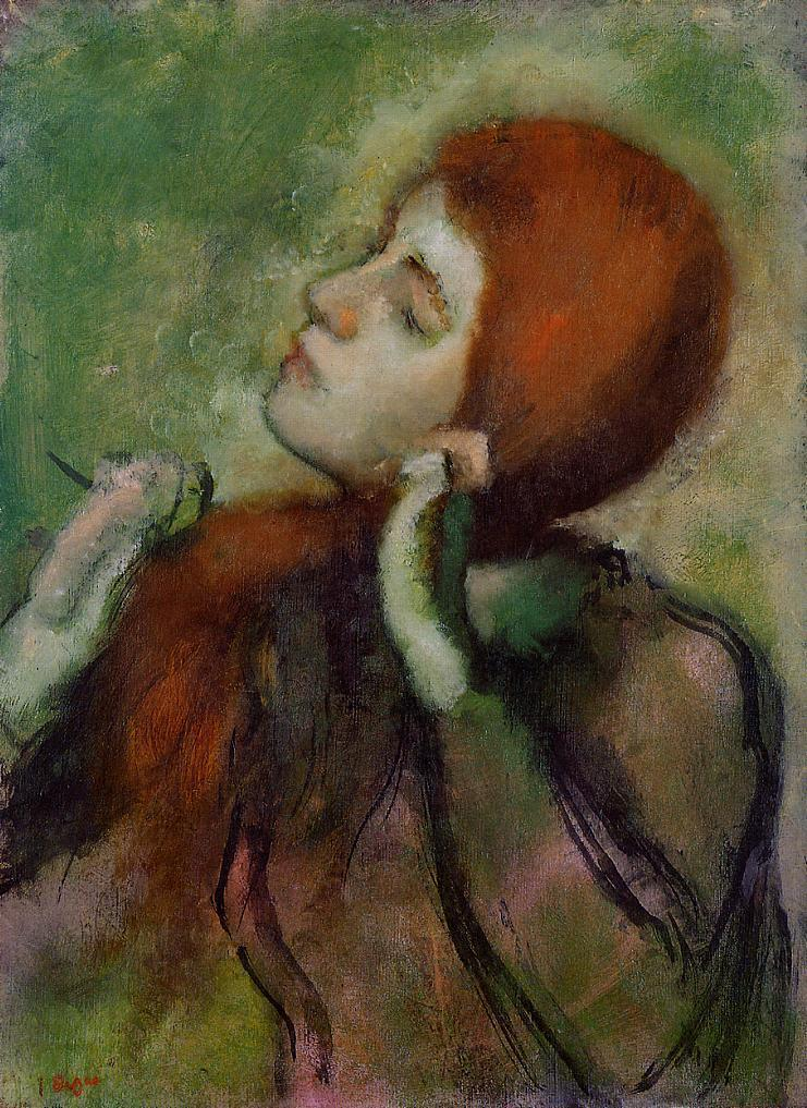 Woman Combing Her Hair 1894 | Edgar Degas | Oil Painting