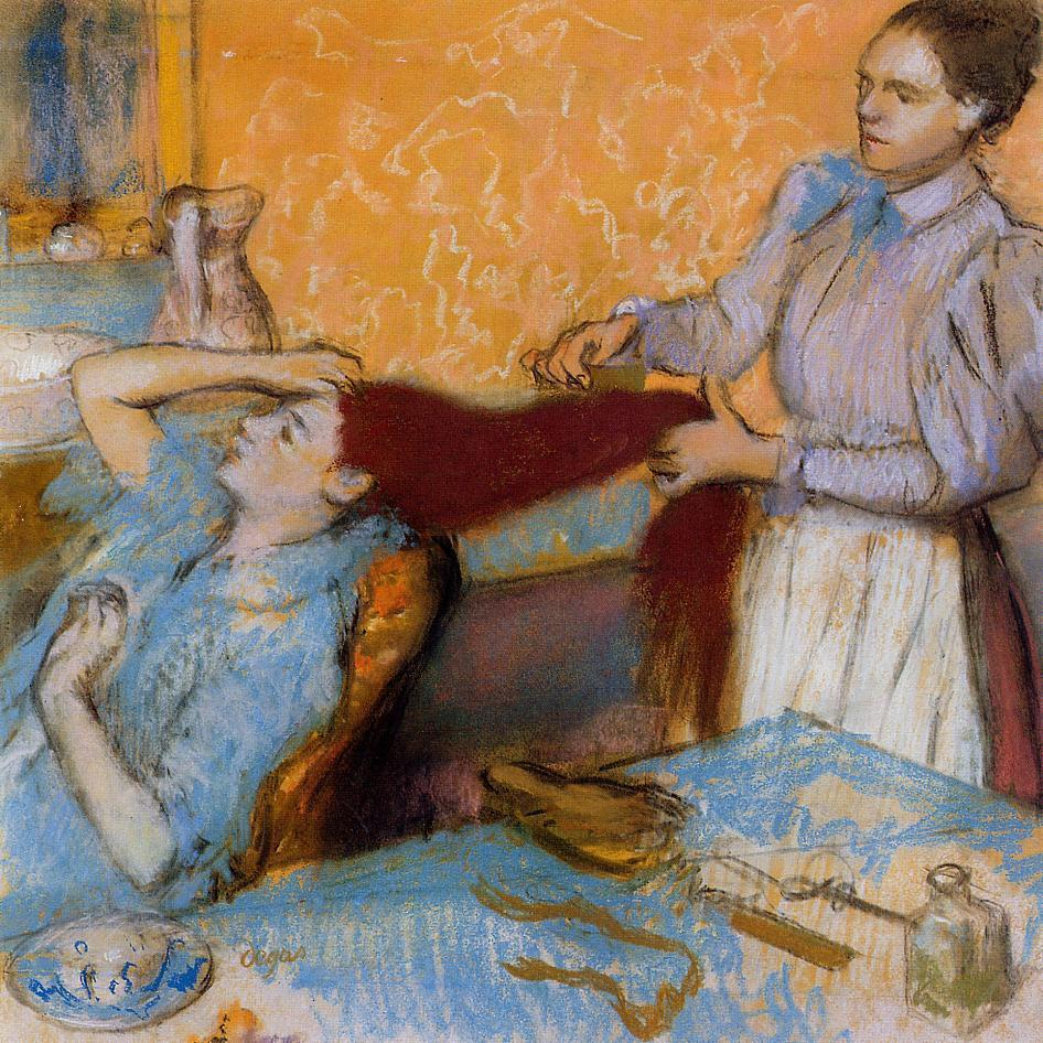 Woman Having Her Hair Combed 1892-1895 | Edgar Degas | Oil Painting