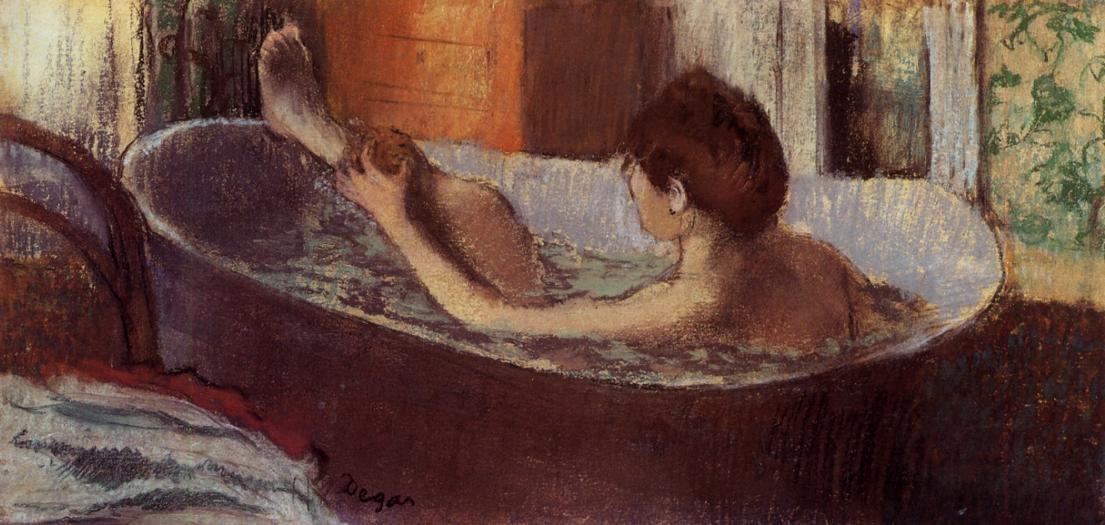Woman in a Bath Sponging Her Leg 1883-1884 | Edgar Degas | Oil Painting