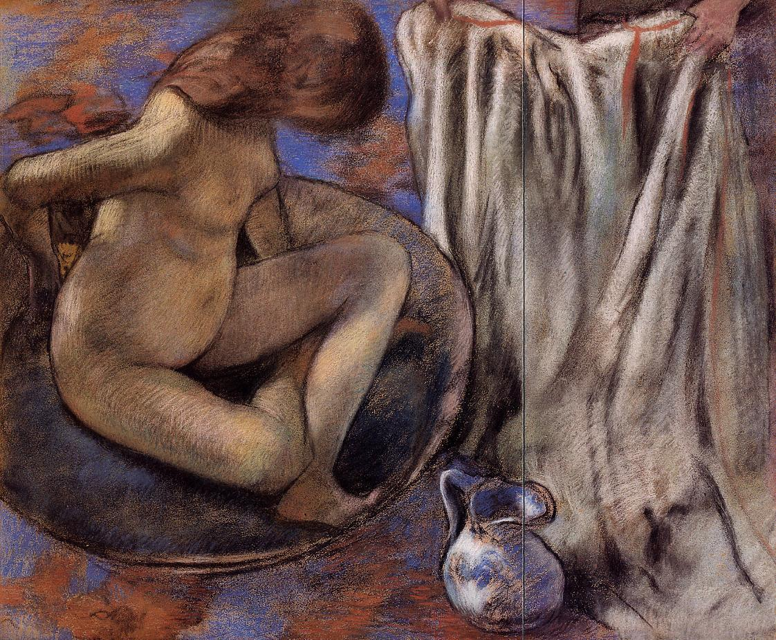 Woman in the Tub 1884 | Edgar Degas | Oil Painting