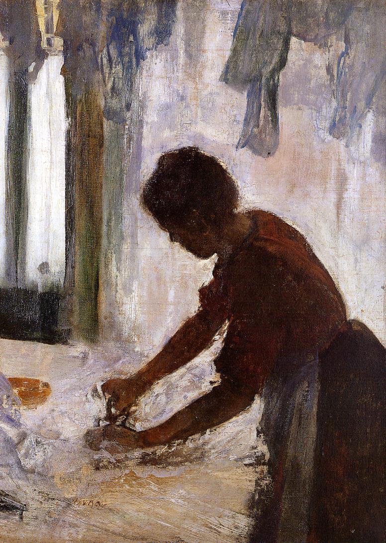 Woman Ironing (aka Silhouette) 1873 | Edgar Degas | Oil Painting